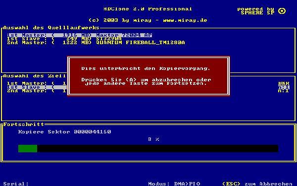 Vorschau HDClone Free Edition - Bild 1