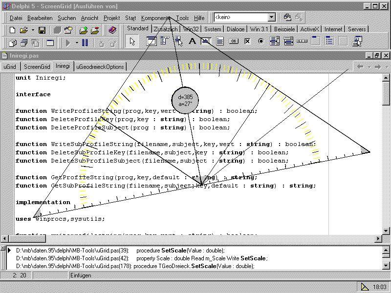 Vorschau MB-Ruler - das Bildschirmgeodreieck 1.3 - Bild 1