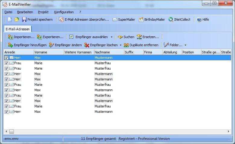 Vorschau E-MailVerifier - Bild 1