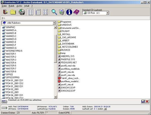 Vorschau DiskArchiv V7.2 - Bild 1