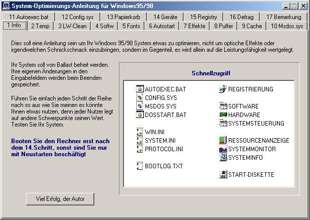 Vorschau Systemoptimierung - Bild 1