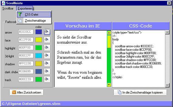 Vorschau Scrollbar-Maker - Bild 1
