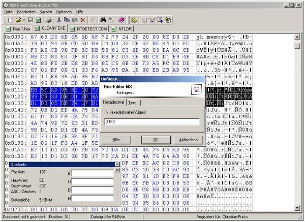 Vorschau NEXT-Soft Hex-Editor MX - Bild 1