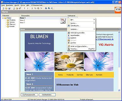Vorschau VIO.Matrix CMS Home Edition - Bild 1