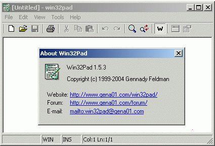 Vorschau Win32Pad - Bild 1
