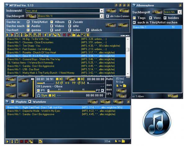 Vorschau MediaArchive vorher MP3Find - Bild 1