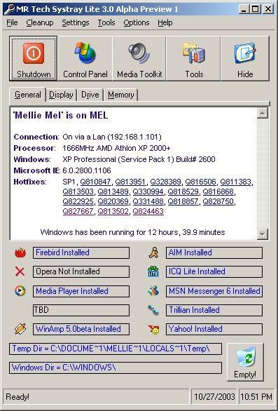 Vorschau MR Tech Systray 3.0 beta1 - Bild 1