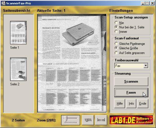 Vorschau ScannerFax-PRO 3.0 - Bild 1