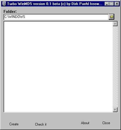 Vorschau Turbo WinMD5 - Bild 1
