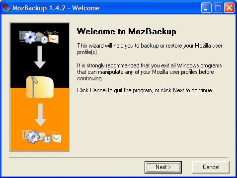Vorschau MozBackup - Bild 1