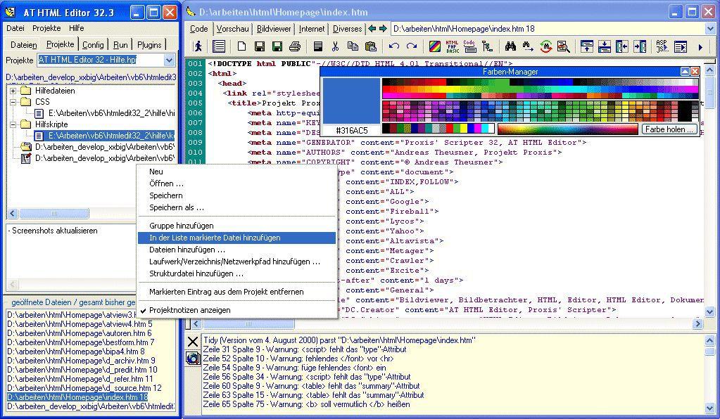 Vorschau AT HTML Editor - Bild 1