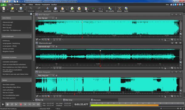 Vorschau Wavepad Kostenloser Audio-Editor - Bild 1