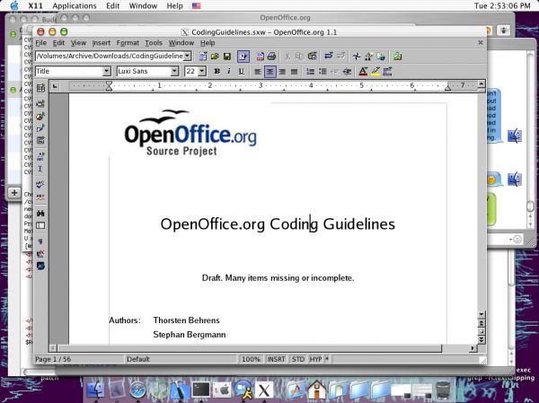Vorschau Apache OpenOffice for Mac OS X - Bild 1