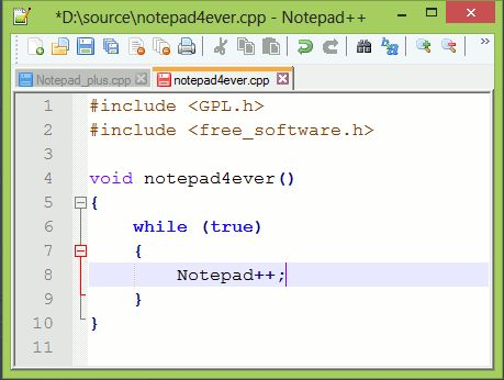 Vorschau Notepad++ and Notepad++ Portable - Bild 1