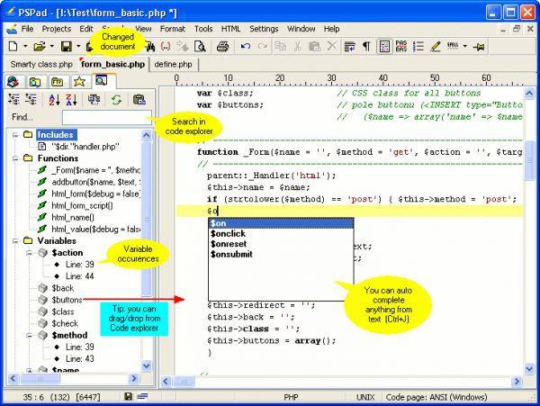Vorschau PSPad Editor and Portable - Bild 1