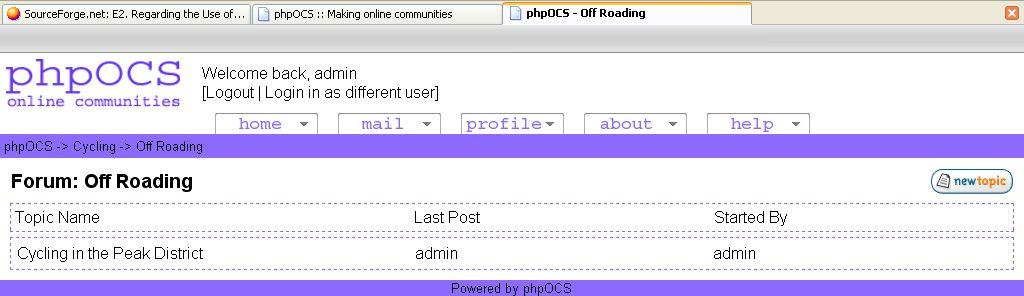 Vorschau phpOCS - Bild 1