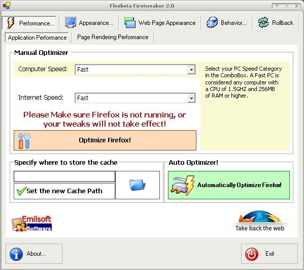 Vorschau Flexbeta FireTweaker XP - Bild 1