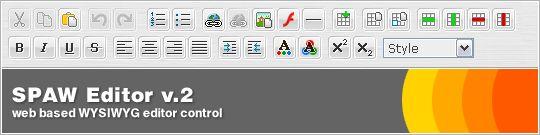 Vorschau SPAW web based WYSIWYG Editor - Bild 1