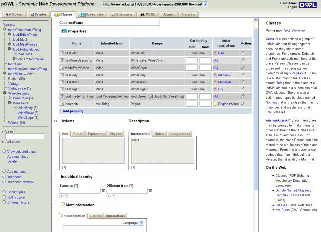 Vorschau POWL - web based ontology editor - Bild 1
