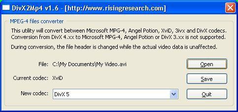 Vorschau DivX2Mp4 - Bild 1