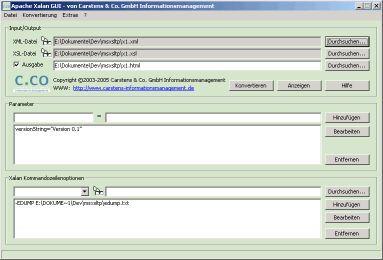 Vorschau Apache Xalan GUI - Bild 1