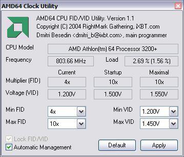Vorschau AMD64 Clock Utility - Bild 1