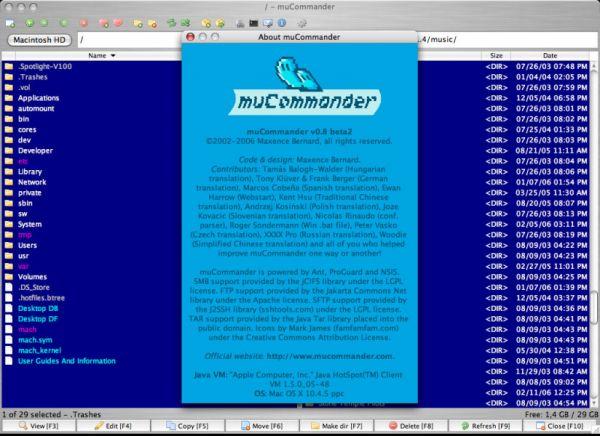 Vorschau muCommander for Unix - Bild 1