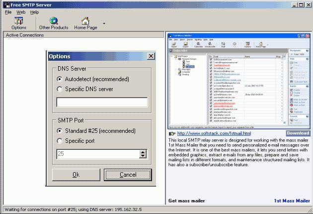 Vorschau Free SMTP Server - Bild 1