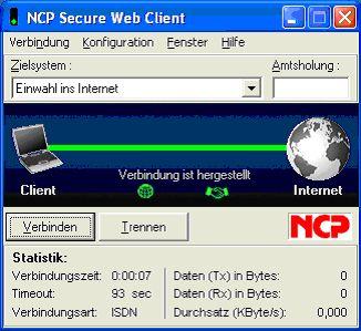 Vorschau NCP Secure WebClient - Bild 1