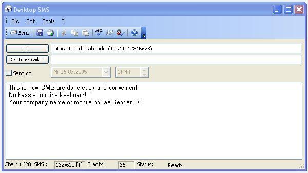 Vorschau PC SMS - Outlook SMS - Bild 1