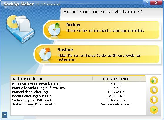 Vorschau BackUp Maker - Bild 1