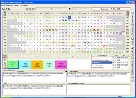 Vorschau Lehrer-Noten-Kalender - Bild 1