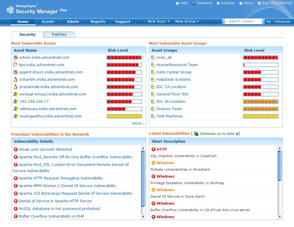 Vorschau ManageEngine Security Manager Plus - Bild 1