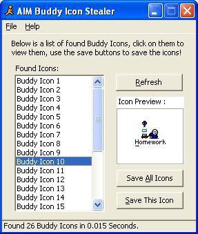 Vorschau AIM Buddy Icon Stealer - Bild 1