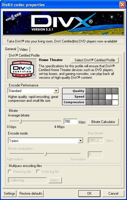 Vorschau DivX Player -with DivX Codec- for 2K-XP - Bild 1