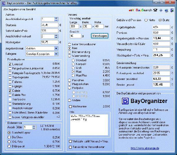 Vorschau BayCalculator - Bild 1
