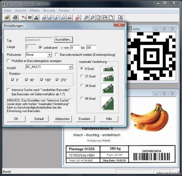 Vorschau bcTester Barcode Lesen aus Dateien - Bild 1