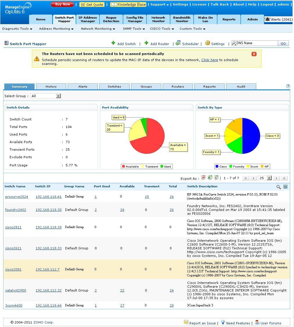Vorschau AdventNet ManageEngine OpUtils - Bild 1