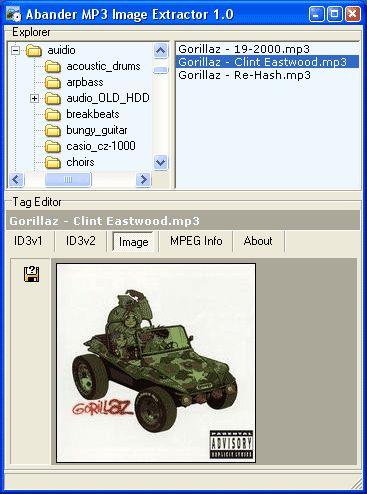 Vorschau Abander MP3 Image Extractor - Bild 1