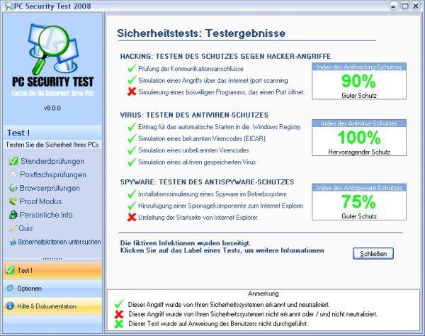 Vorschau PC Security Test 2009 - Bild 1