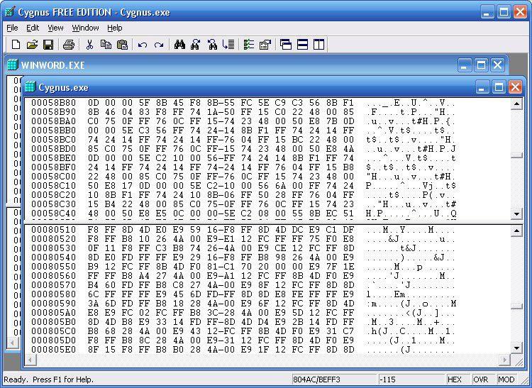 Vorschau Cygnus Hex Editor FREE EDITION - Bild 1
