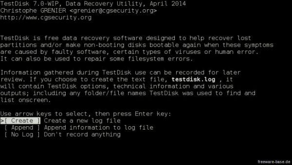 Vorschau TestDisk - Bild 1