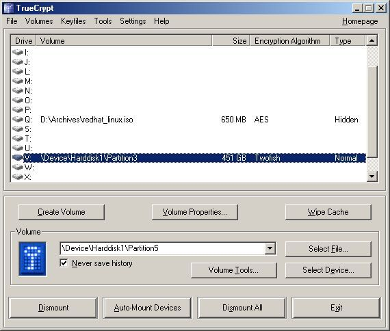 Vorschau TrueCrypt for Windows - Bild 1