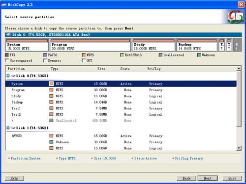 Vorschau EaseUS Disk Copy - Bild 1