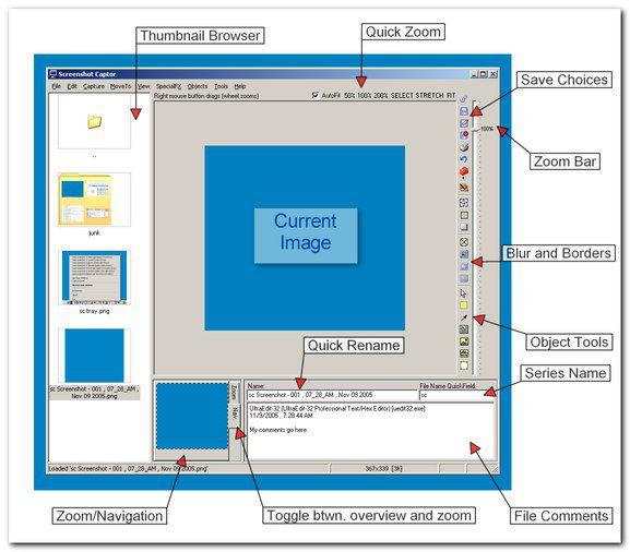 Vorschau Screenshot Captor - Bild 1