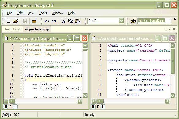 Vorschau Programmers Notepad and Portable - Bild 1