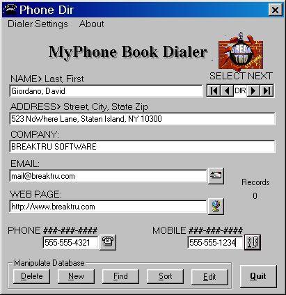 Vorschau BREAKTRU MyPhone Book Dialer - Bild 1