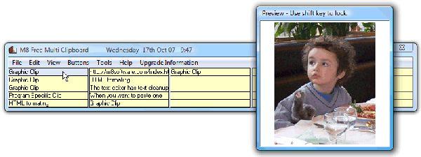 Vorschau M8 Free Clipboard Manager - Bild 1
