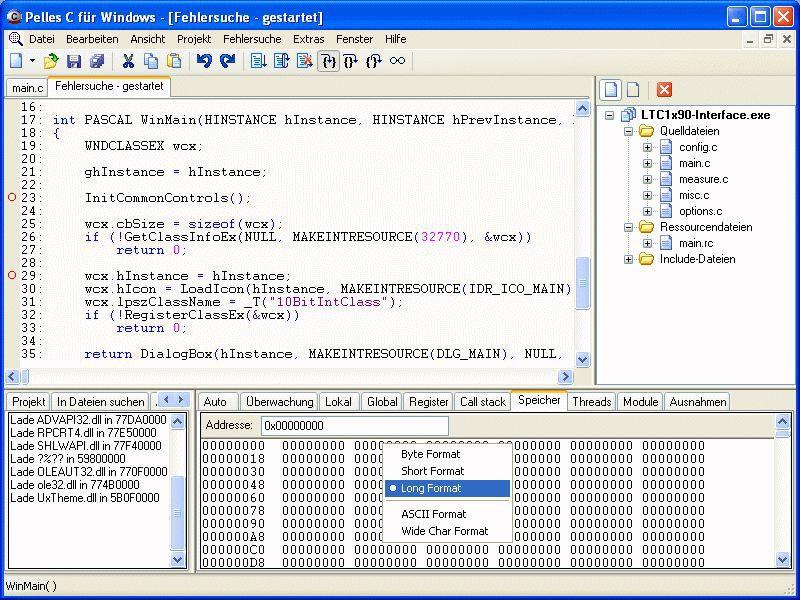 Vorschau Pelles C für Windows - Bild 1
