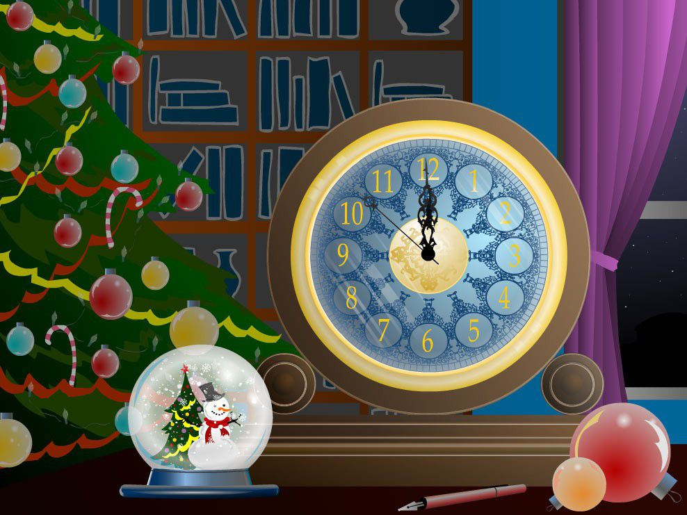 Vorschau Magic Christmas Clock screensaver - Bild 1